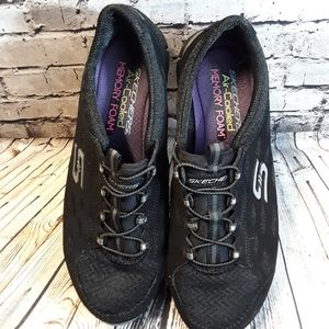 Skechers Air Cooled Memory Foam Shoes Black Size 8